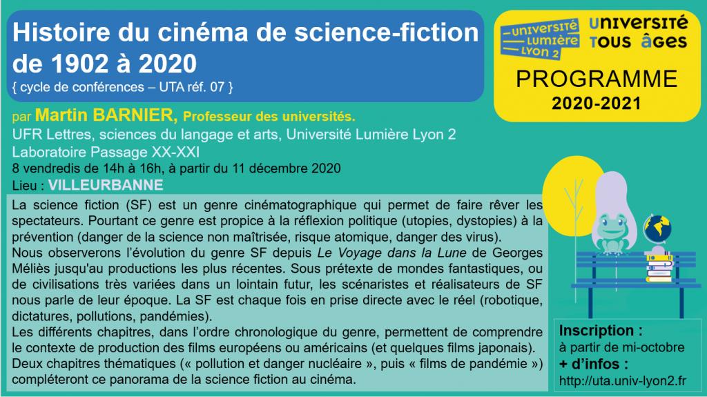 Cycle de conférences UTA 2020-2021